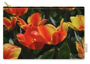Gorgeous Flowering Orange And Red Blooming Tulips Carry-all Pouch