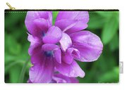Gorgeous Flowering Purple Tulip Flower Blossoms In A Garden Carry-all Pouch