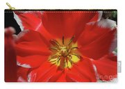 Gorgeous Flowering Red Tulip With A Yellow Center Carry-all Pouch