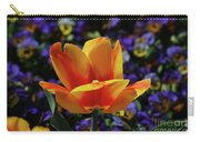 Gorgeous Flowering Yellow And Red Blooming Tulip Carry-all Pouch