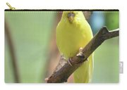 Gorgeous Little Yellow Parakeet Living In The Wild Carry-all Pouch