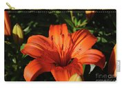 Gorgeous Pretty Orange Lily Flower Blooming In A Garden Carry-all Pouch