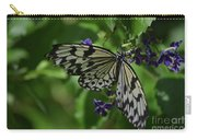 Gorgeous White Tree Nymph Butterfly With It's Wings Spread Carry-all Pouch
