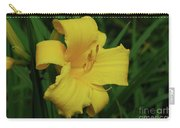 Gorgeous Yellow Daylily In A Garden Blooming Carry-all Pouch