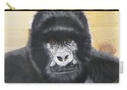 Gorilla On Wood Carry-all Pouch