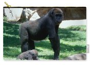 Gorillas Mary Joe Baby And Emonty Mother 6 Carry-all Pouch