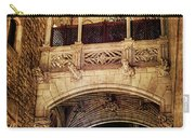 Gothic Bridge At Night In Barcelona 2 Carry-all Pouch