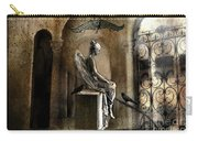 Gothic Surreal Angel With Gargoyles And Ravens  Carry-all Pouch