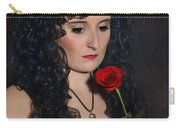 Gothic Woman With Rose Carry-all Pouch