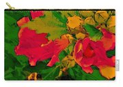 Gouache Painting Flower And Bumble Bee Carry-all Pouch