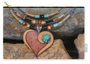 Gourd Heart With Turquoise #h92 Carry-all Pouch