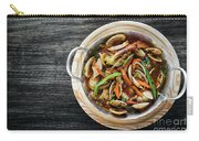 Gourmet Clam And Vegetable Seafood Stew In Spicy Tomato Sauce Carry-all Pouch