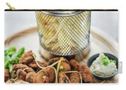 Gourmet Fried Octopus Calamari Style Set Meal With Fries Carry-all Pouch