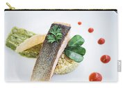Gourmet Salmon Fish  Fillet With Rice And Guacamole Meal Carry-all Pouch