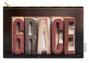 Grace - Antique Letterpress Letters Carry-all Pouch