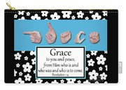 Grace - Bw Graphic Carry-all Pouch