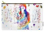 Grace Slick Jefferson Airplane Paint Splatter Carry-all Pouch