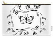 Graceful Butterfly Baby Room Decor Iv Carry-all Pouch