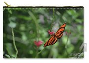 Graceful Oak Tiger Butterfly Around Pink Flowers Carry-all Pouch