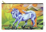Graceful Stallion With Flaming Mane Carry-all Pouch