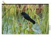 Grackle Hiding In Marsh Carry-all Pouch