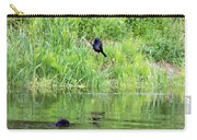 Grackle Meets Beaver Carry-all Pouch