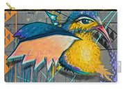 Graffiti Art Of A Colorful Bird Along Street IIn Hilly Valparaiso-chile Carry-all Pouch
