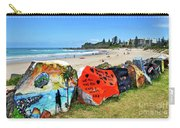 Graffiti At The Beach Carry-all Pouch