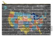 Graffiti  Map Of The United States Of America Carry-all Pouch