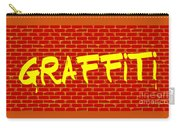 Graffiti Red Wall Carry-all Pouch
