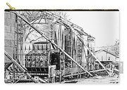 Grain Silos In Black And White Carry-all Pouch