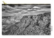 Grand Canyon In Black And White Carry-all Pouch