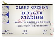 Grand Opening Dodger Stadium Ticket Stub 1962 Carry-all Pouch