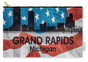 Grand Rapids Mi American Flag Squared Carry-all Pouch