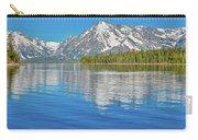 Grand Teton Mountain Reflection On Jackson Lake Carry-all Pouch
