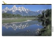 Grand Teton Reflection At Schwabacher Landing Carry-all Pouch