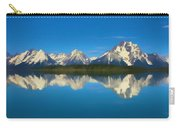 Grand Teton Reflection Wood Texture Carry-all Pouch