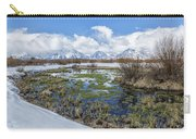 Grand Tetons From Willow Flats In Early April Carry-all Pouch