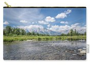 Grand Tetons On A Sunny Day Carry-all Pouch by Margaret Pitcher