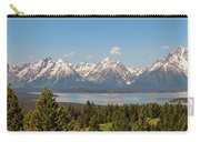 Grand Tetons Over Jackson Lake Panorama Carry-all Pouch