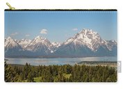 Grand Tetons Over Jackson Lake Panorama Carry-all Pouch by Brian Harig