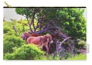 Grand Turk Donkeys In The Shade Carry-all Pouch