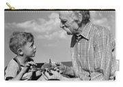 Grandfather And Boy With Model Plane Carry-all Pouch