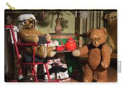 Grandpa And Grandma Teddy Bears' Christmas Eve Carry-all Pouch