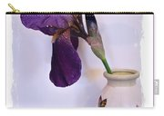 Grape Iris In A Vase Carry-all Pouch