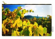 Grape Leaves And The Sky Carry-all Pouch by Elaine Plesser