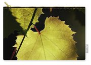 Grapevine In The Back Lighting Carry-all Pouch by Michal Boubin