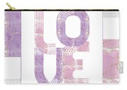 Graphic Art Gold Love - Rose And Violet Carry-all Pouch