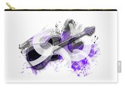 Graphic Art Guitar - Purple Carry-all Pouch