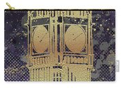 Graphic Art London Big Ben - Ultraviolet And Golden Carry-all Pouch